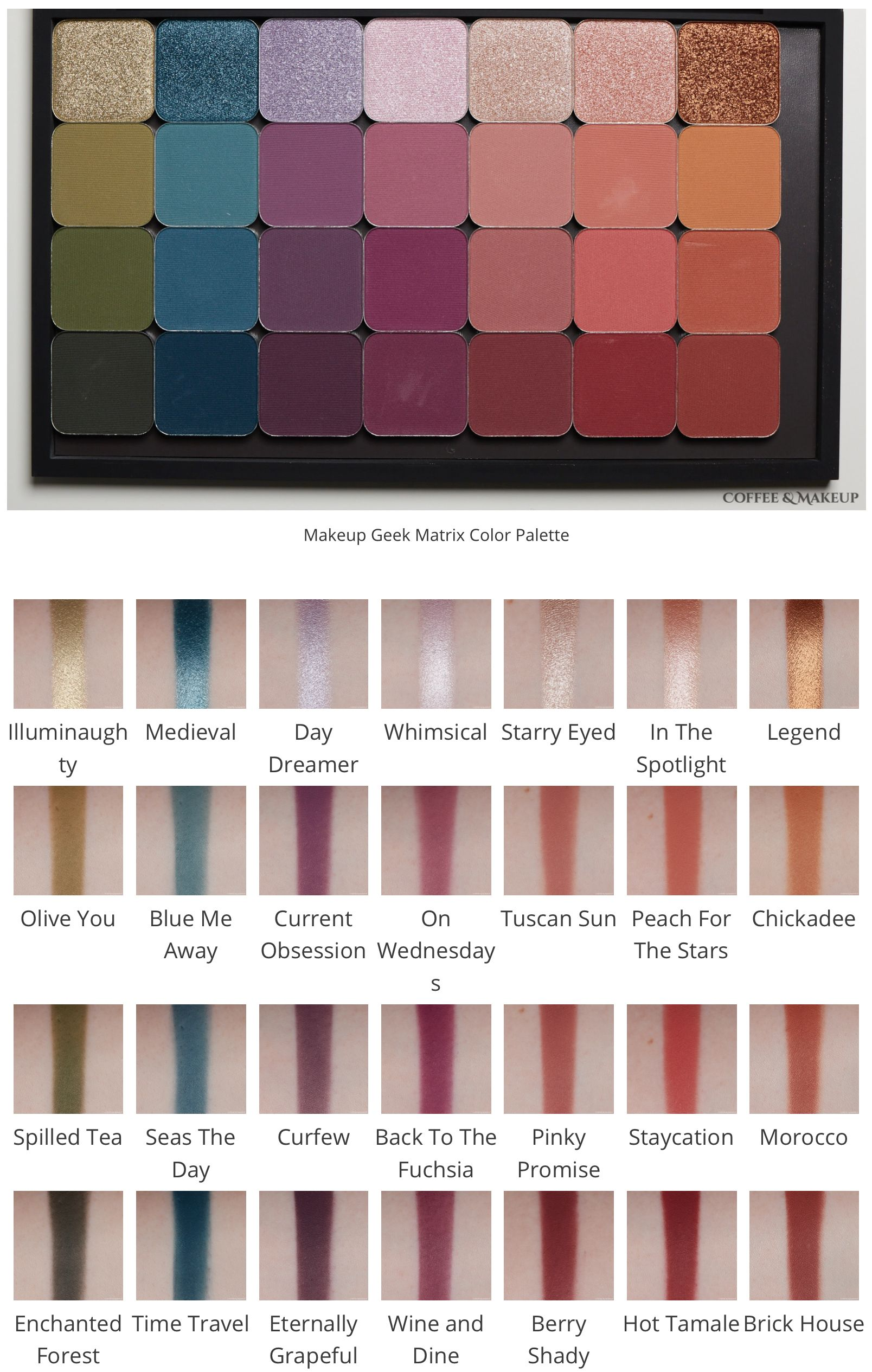 Swatches Makeup Geek Eyeshadows Coffee Makeup In 2020 Makeup Geek Palette Makeup Geek Eyeshadow Makeup Geek