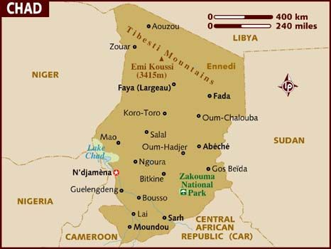 map of chad africa map of chad view the destination guide