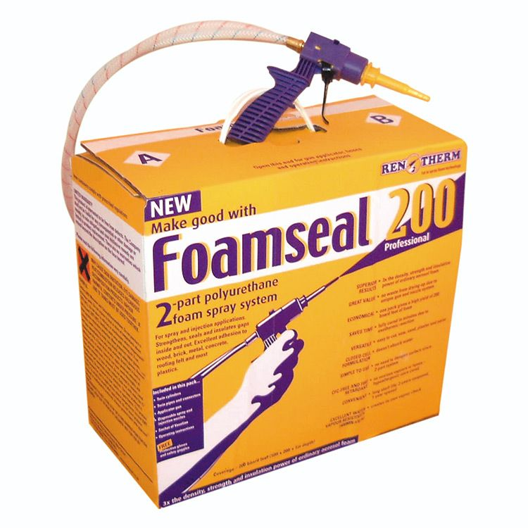 Foamseal 200 Kit Diy Home Insulation Kit From Foamseal Diy Spray Foam Insulation Spray Foam Insulation Kits Polyurethane Spray Foam