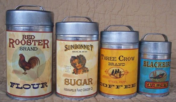 vintage country canister