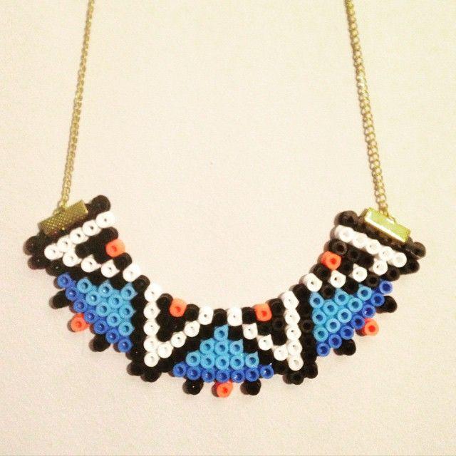 Necklace hama beads by alicethehotdog