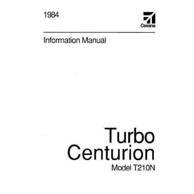 Cessna Turbo 210N Centurion 1984 Pilot's Information