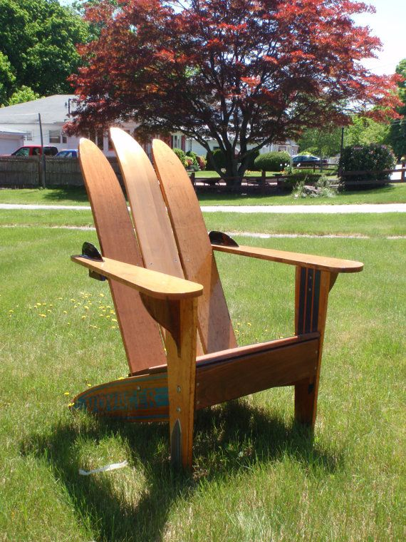Adirondack Chair Made Out Of Vintage Water Skis. $599.00, Via Etsy.