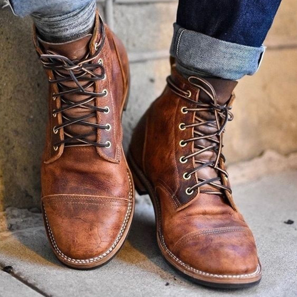 3a96412227945 Shoes - High Quality Men's Vintage British Style Martin Boots – Kaaum