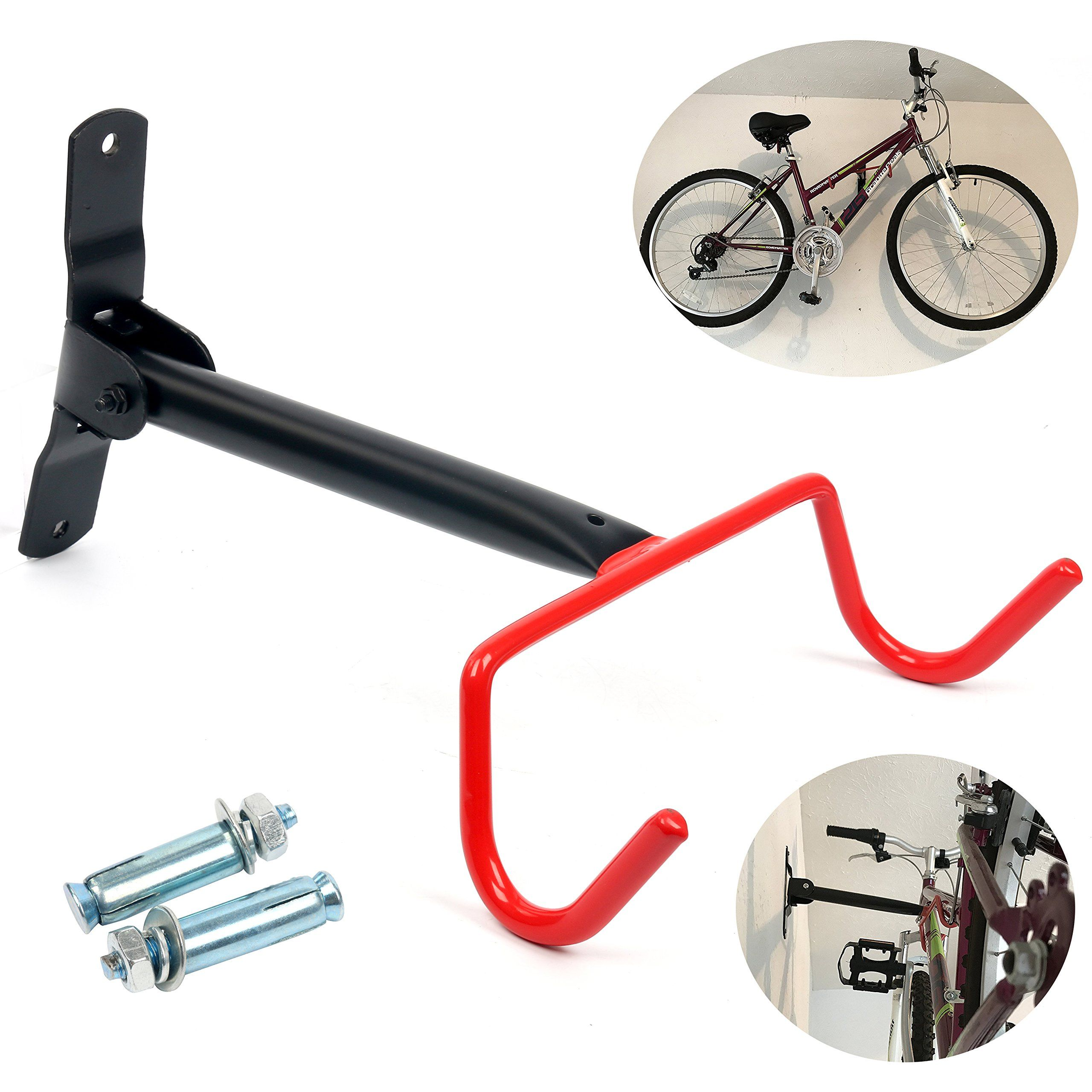 Wall Mount Hook Hanger Bike Rack Bicycle Storage Garage Space Saver Holder