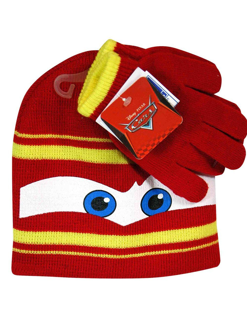 c84d9ee3629 Disney Cars Lightning Mcqueen Winter Beanie Hat   Gloves Set. Material   100% Acrylic
