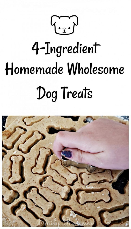 4ingredient homemade wholesome dog treats recipe