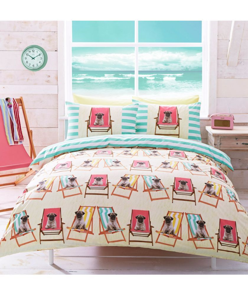 Buy pug multicoloured duvet cover set single at argos co uk your online shop for duvet cover sets