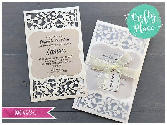 sample leaves die cut bridal shower sweet 16 xv invitation cards 2