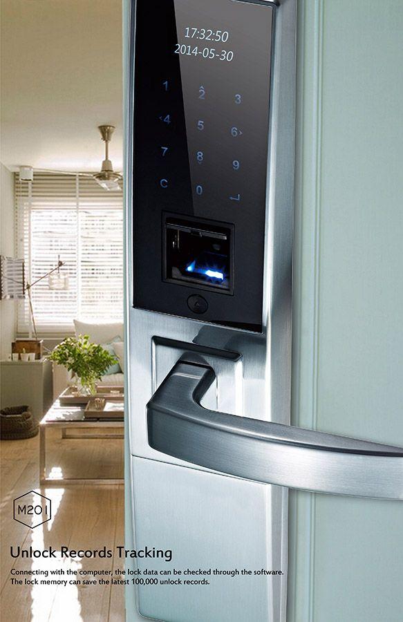 M201 fashion expensive LED display touch key pad biometric