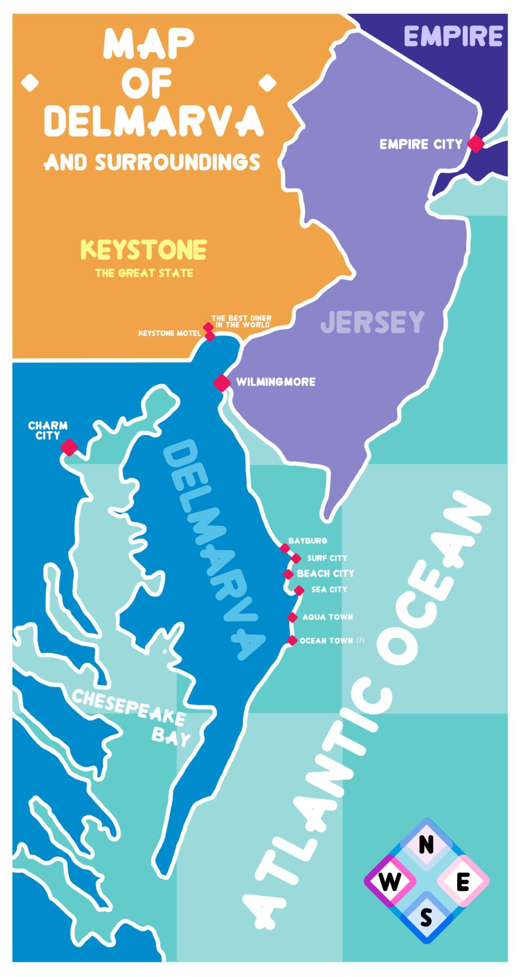 Steven Universe Map Of Delmarva