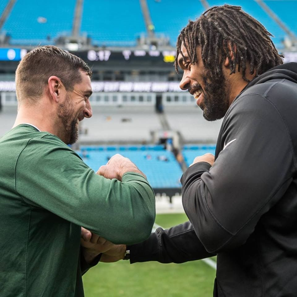 Pep Greeting An Old Friend Aaron Rodgers Green Bay Aaron Rodgers Green Bay Packers