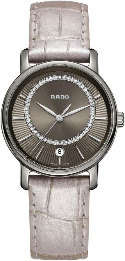 6861d6b0b864 Rado DiaMaster Diamond Leather Strap Watch