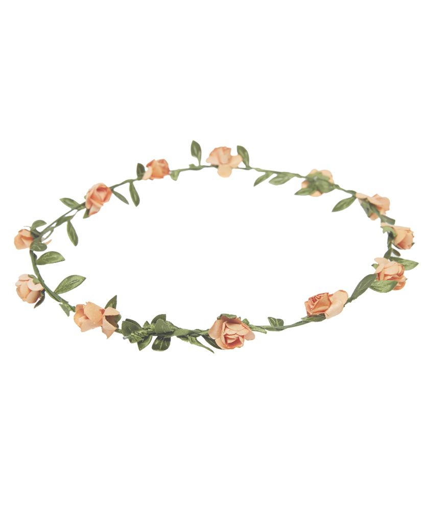 Small rosebud crown wet seal hair accessories flowercrown me this soft and sweet flexible wire crown is decorated with small faux rosebuds and leaves for a boho inspired style flower width man made materials izmirmasajfo Images