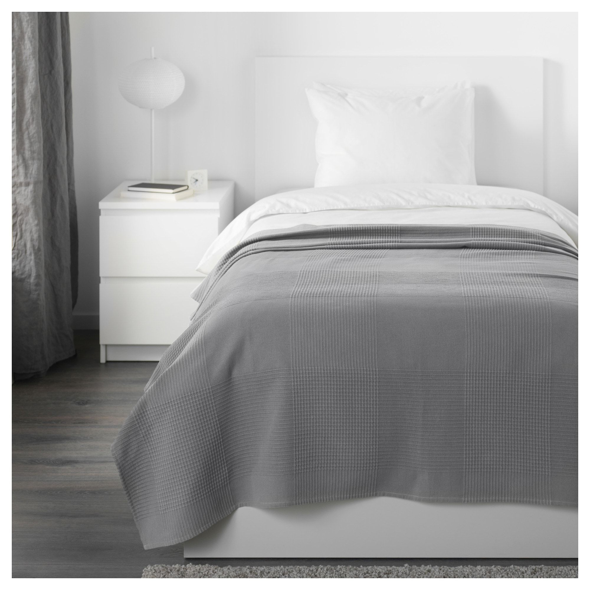 "INDIRA Bedspread gray 59x98 "" (150x250 cm) Bed spreads"