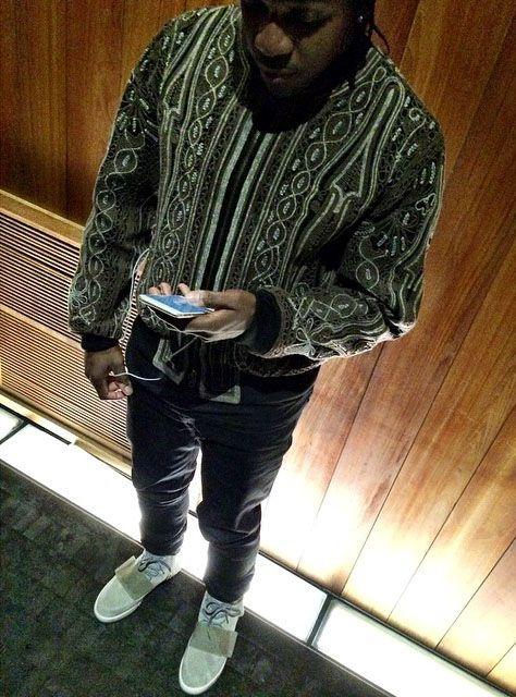 7a0a05adf0772 Pusha T wearing adidas Yeezy 750 Boost