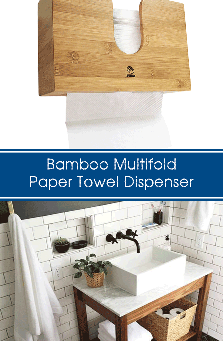 f6043064b75 I ll have this home grade bamboo multifold paper towel dispenser next to my  bathroom sink. Goes well next to the wooden table
