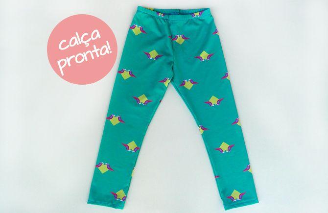 65b9d492b Tutorial e molde grátis calça legging infantil calça pronta ...