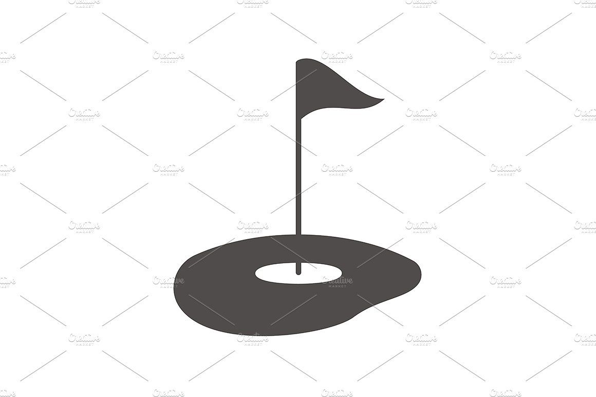 Golf Course Icon Vector Golf Courses Icon Vector