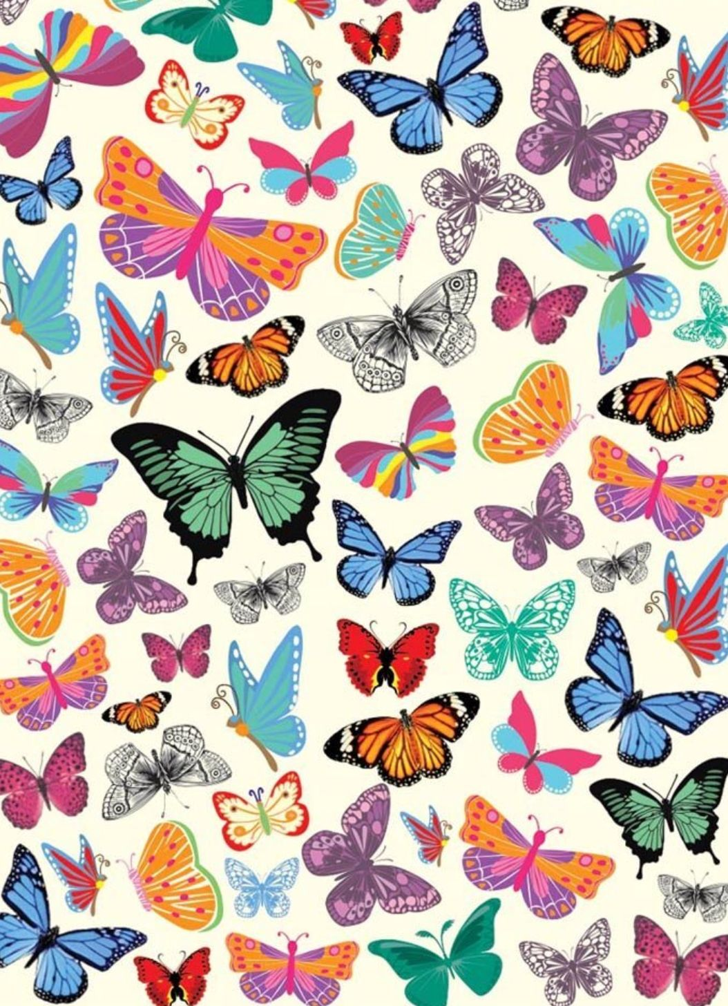 Butterfly Pattern Artsy background, Iphone background