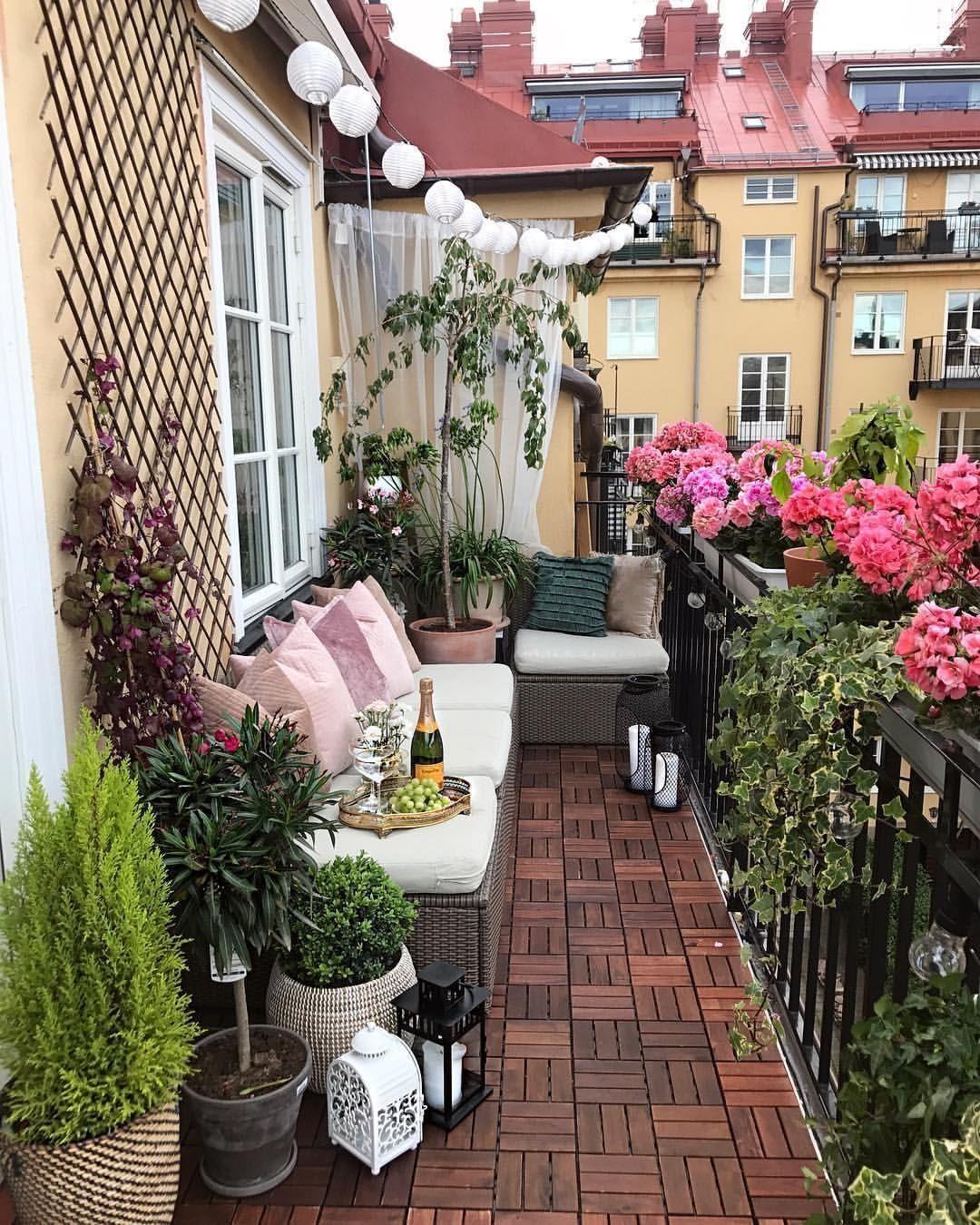 17 Elegant Balcony Decoration Ideas  Small balcony design