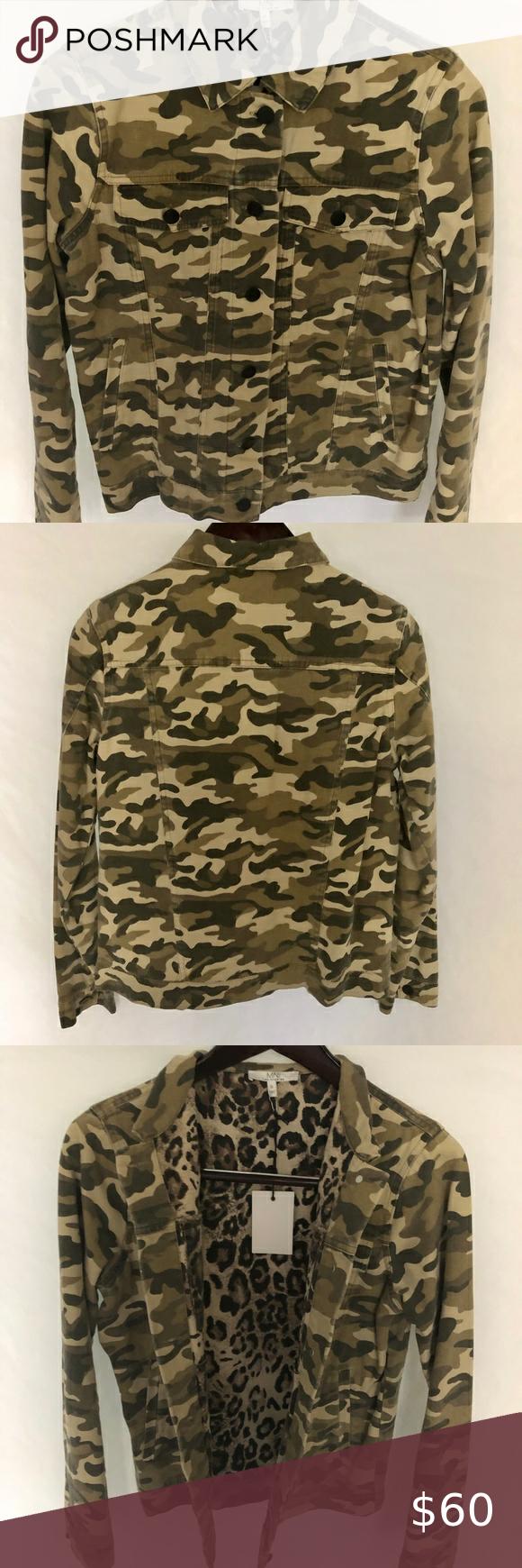 M N I Los Angelos Camo Jean Jacket Nwt Size Small Camo Print Jacket Jean Jacket Camo Denim Jacket [ 1740 x 580 Pixel ]
