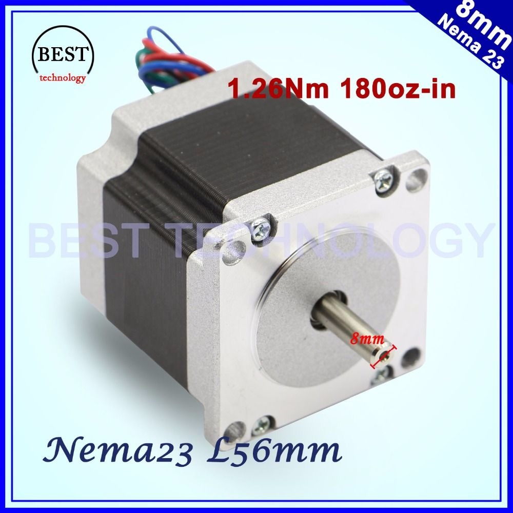 Stepper Motor 57x56 D8mm Nema23 4 Wires 3a 126nm Stepping Wire Diagram 180oz In Nema 23 For Cnc Engraving Milling Machine 3d Printer
