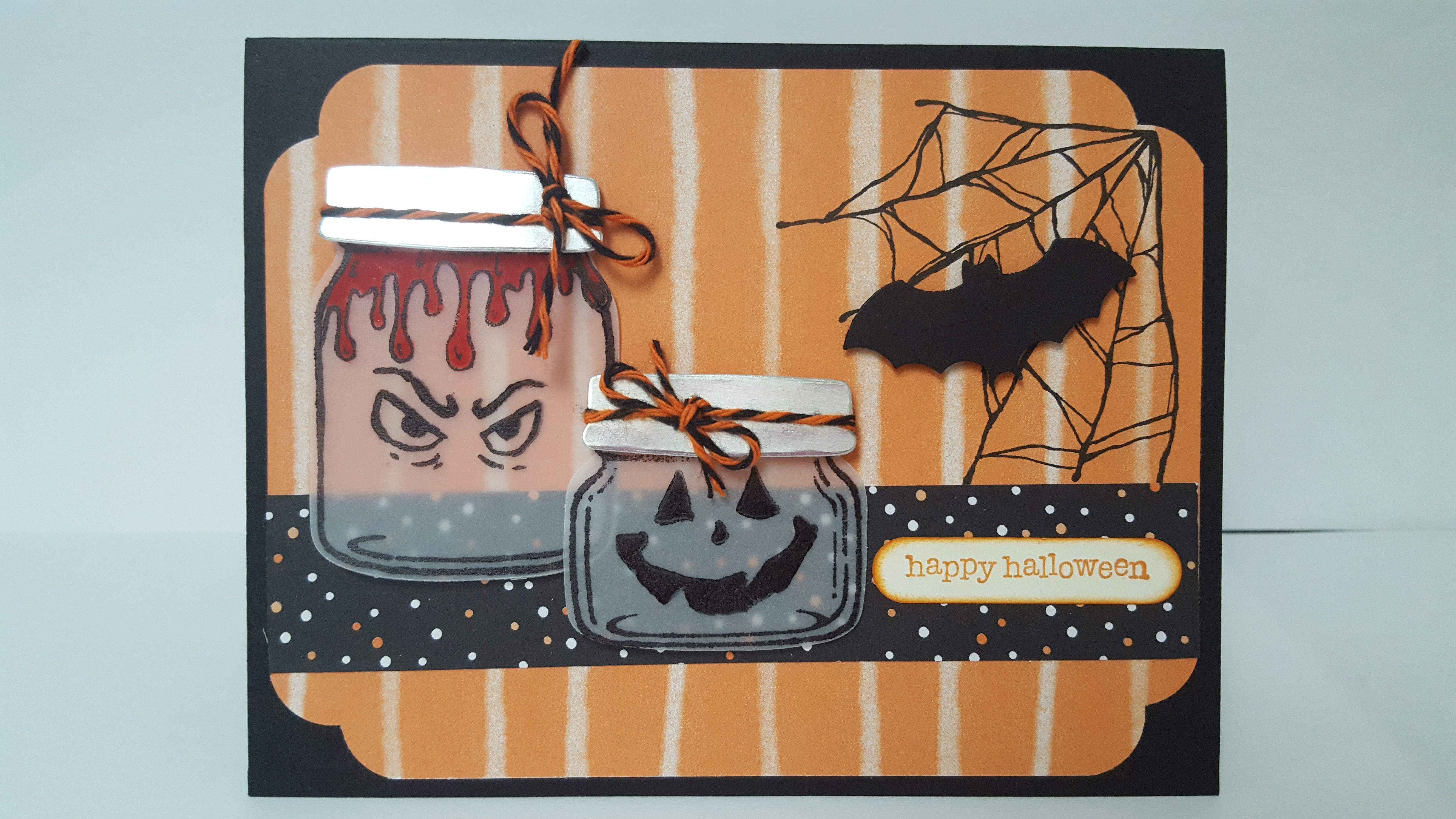 Stampin Up Jar of Haunts and Jars of Love