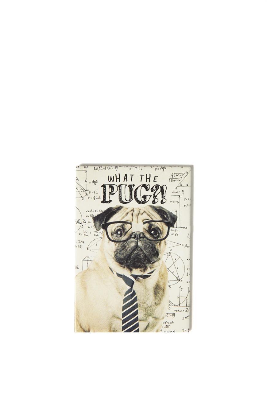 Quirky Magnet Math Pug Pugs Pug Love Notebook