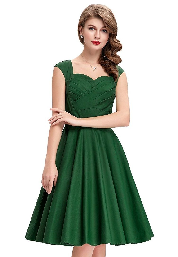 7560f1c37749 Tiffany Emerald Sweetheart Swing Dress | Clothes for my imaginary ...
