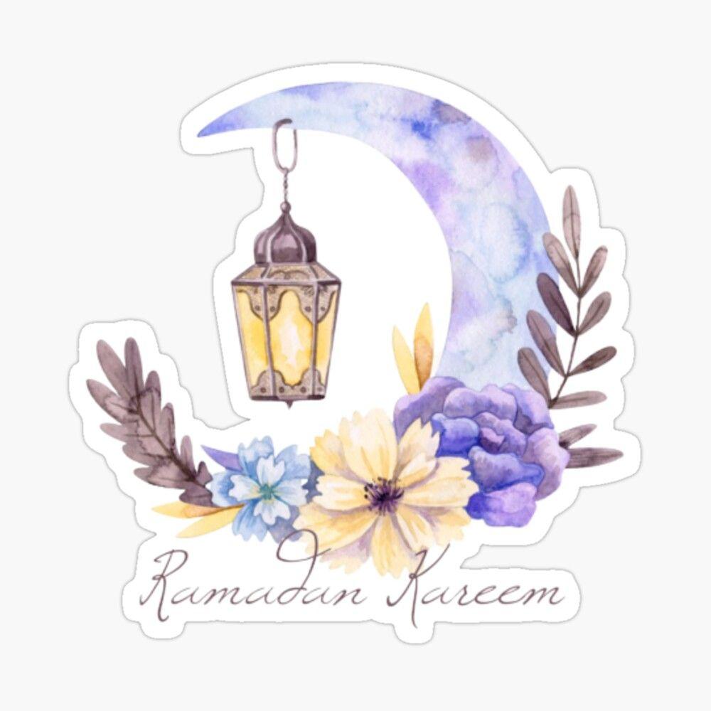 Ramadan Kareem Glossy Sticker By Gattonero2033 Di 2021 Seni Islamis Seni Fotografi Abstrak