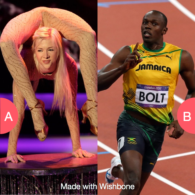Be super flexible or super fast? Click here to vote @ http://getwishboneapp.com/share/12357674