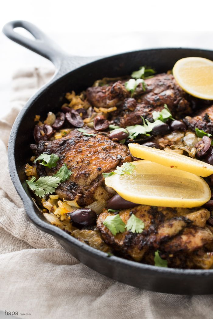 One Pot Moroccan Chicken and Rice is easy to prepare, leaves minimal clean-up, and it's so satisfying. Every single bite is packed with flavor!