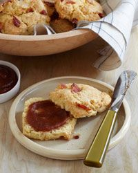 Bacon Biscuits with Roasted Apple Butter Recipe from Food & Wine