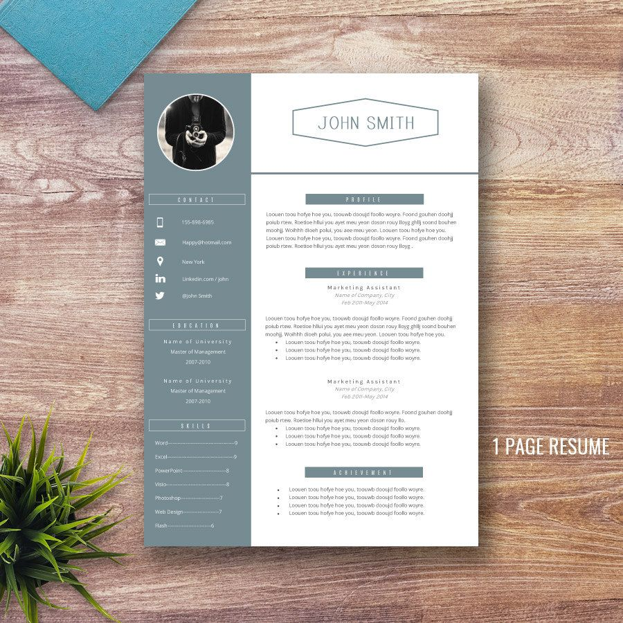 professional resume template for word 1 and 2 page by resumepress