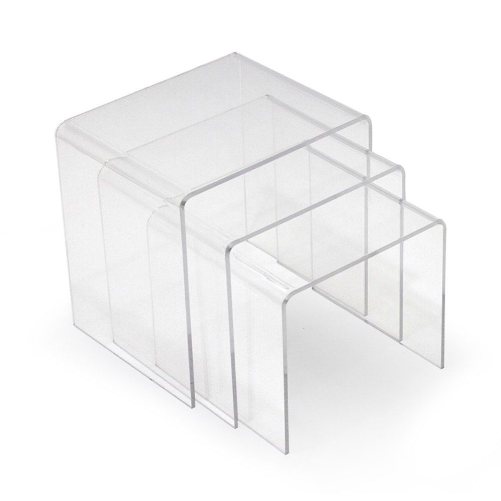 Modway Casper Clear Acrylic Nesting Tables  3 Piece Set  When You Need A  Table