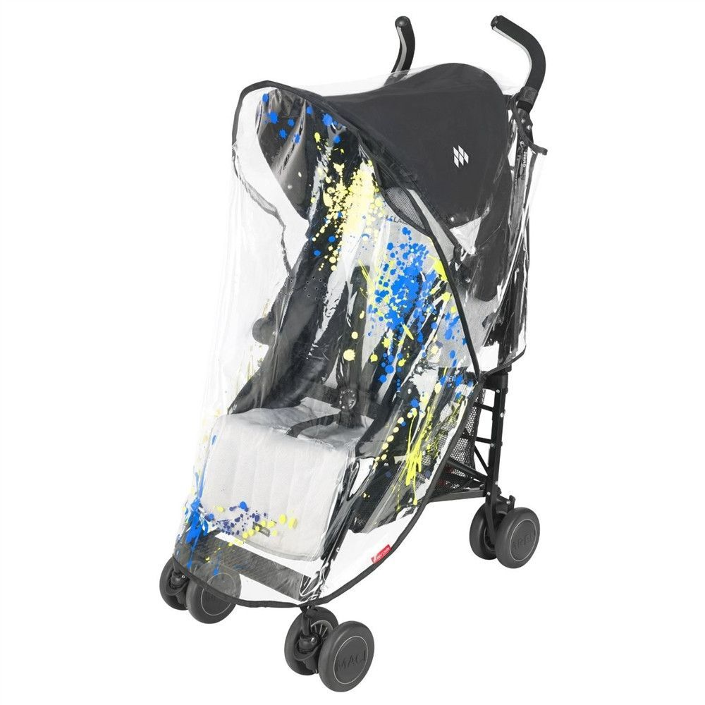 Maclaren Stroller Uk Reviews Maclaren Printed Raincover Universal Paint Splatter Bo