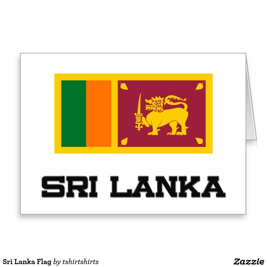 Sri Lanka Flag Greeting Card Gift Ideas Pinterest Sri Lanka Flag