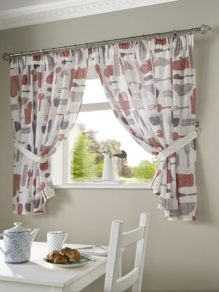 Pin On Posh, Patterned Kitchen Curtains