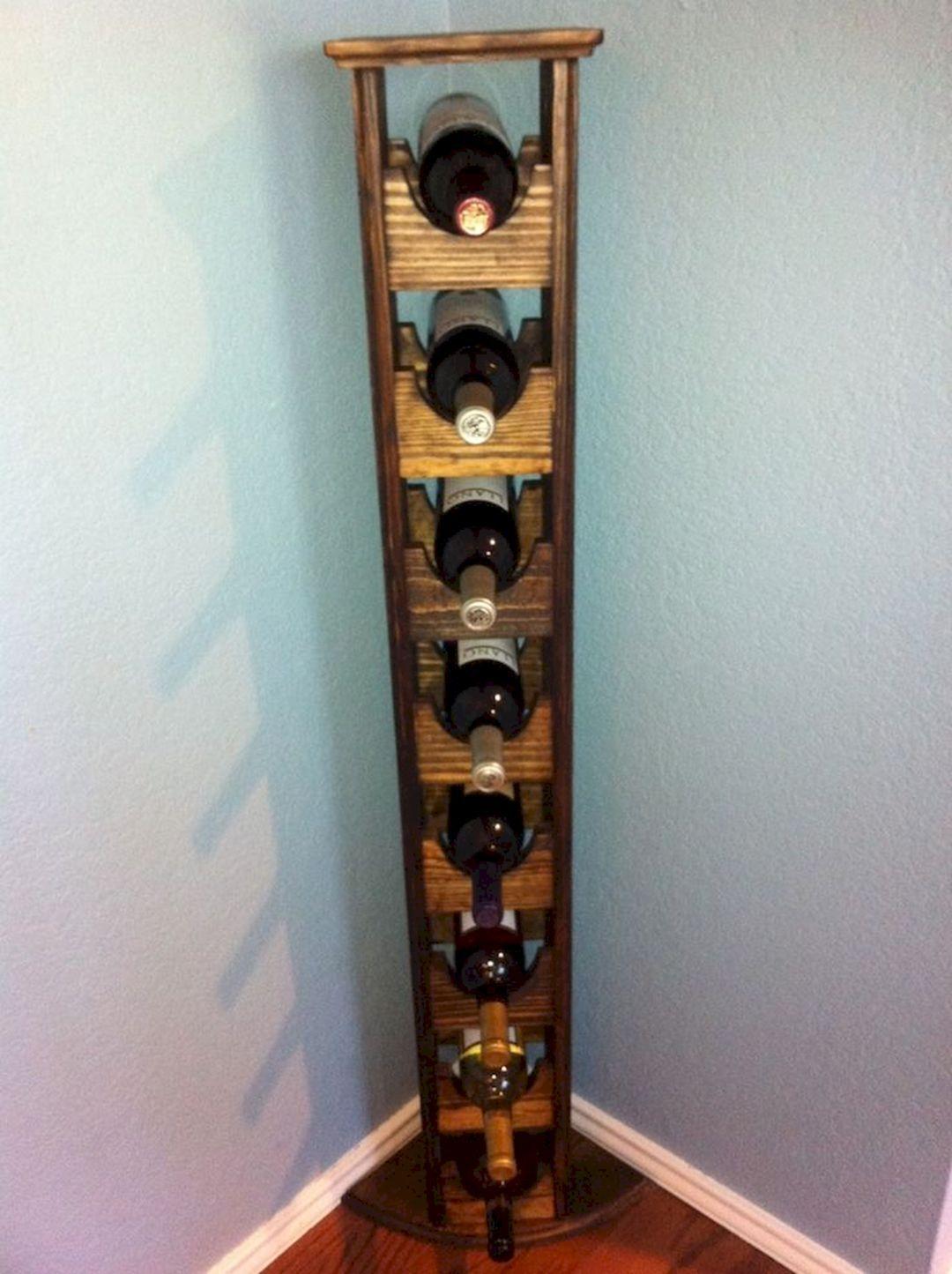 20 Gorgeous Small Corner Wine Cabinet Ideas For Home Look More Beautiful Corner Wine Rack Wood Wine Racks Diy Wine Rack