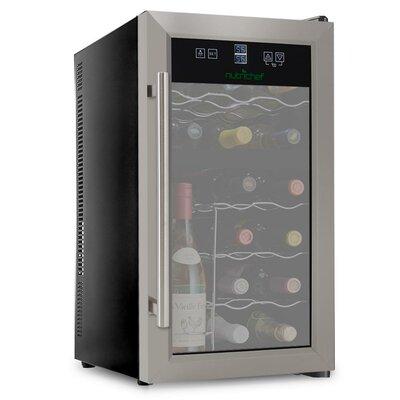 Pyleusa 18 Bottle Electric Freestanding Wine Cooler White Wine Cooler Best Wine Coolers Thermoelectric Wine Cooler