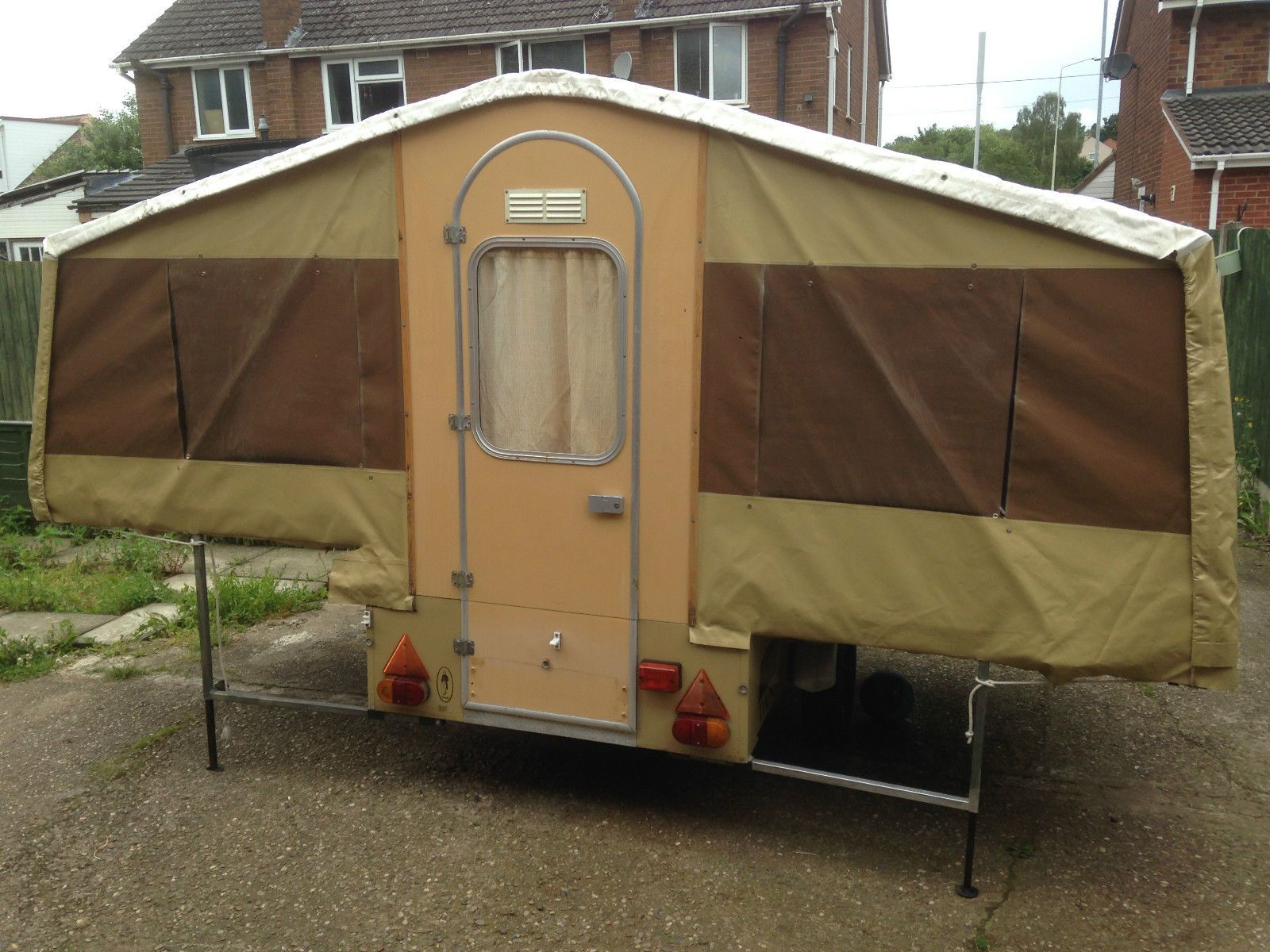 Superb dandy trailer tent 1970 s retro large awning new tyres folding carava