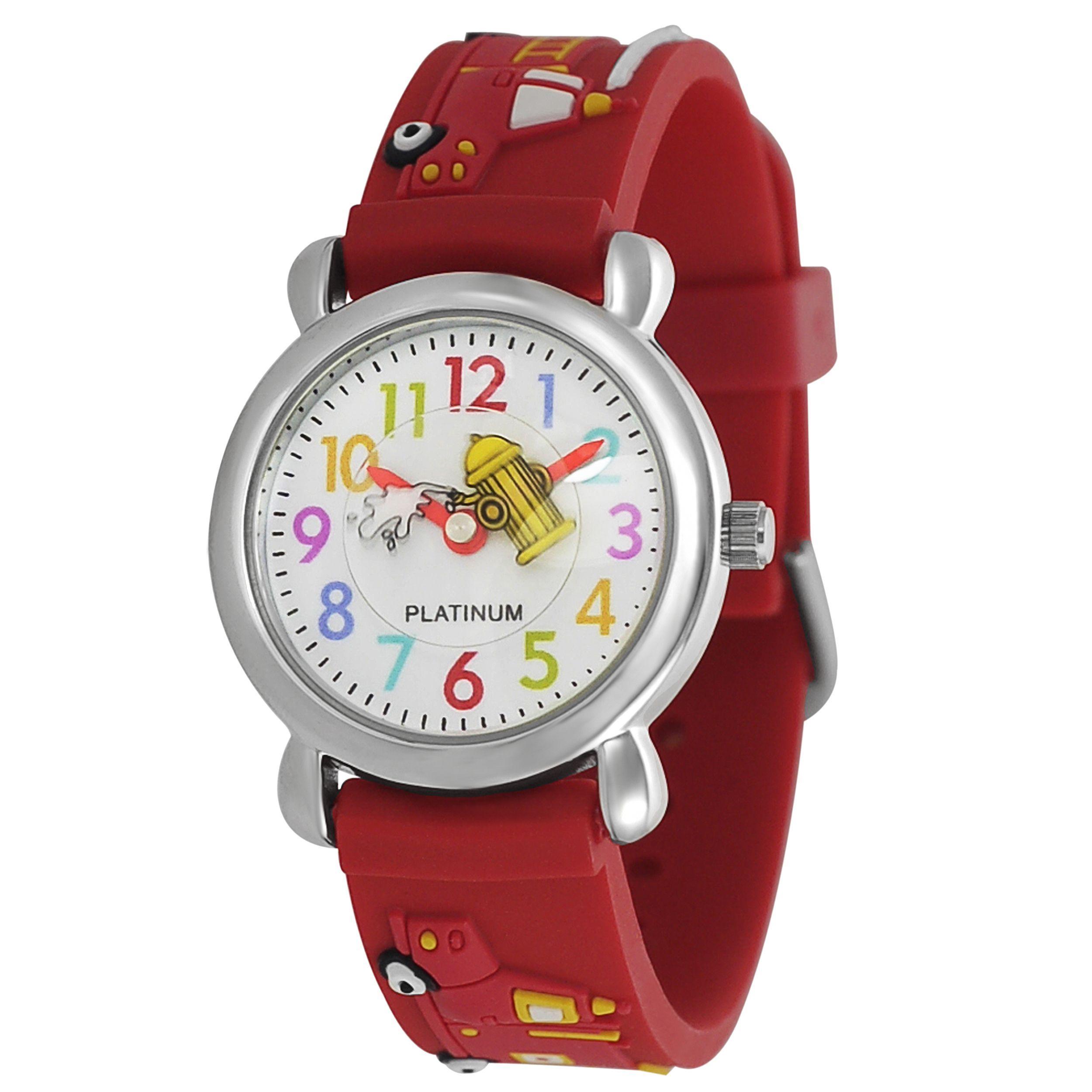 Geneva Platinum Kid's Fire Truck Design Band Watch