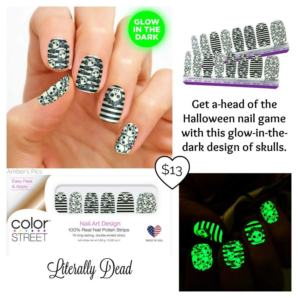 Literally dead | Color street nails, Halloween nails ...