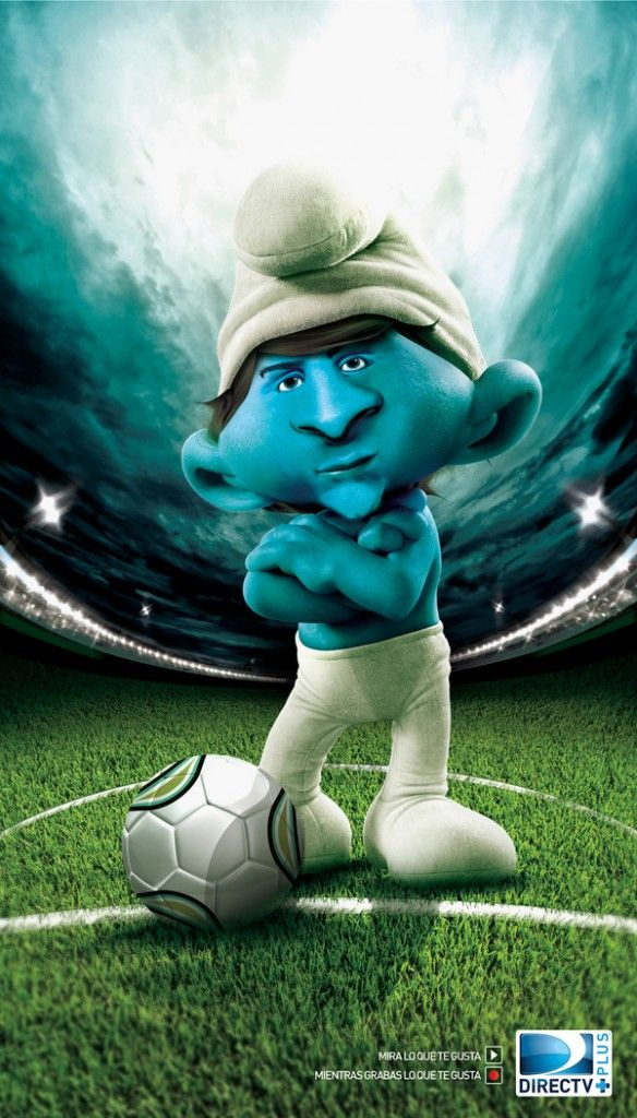 Smurf Messi Football Schlumpfe