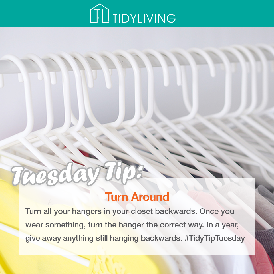 Turn All Your Hangers In Your Closet Backwards Once You Wear