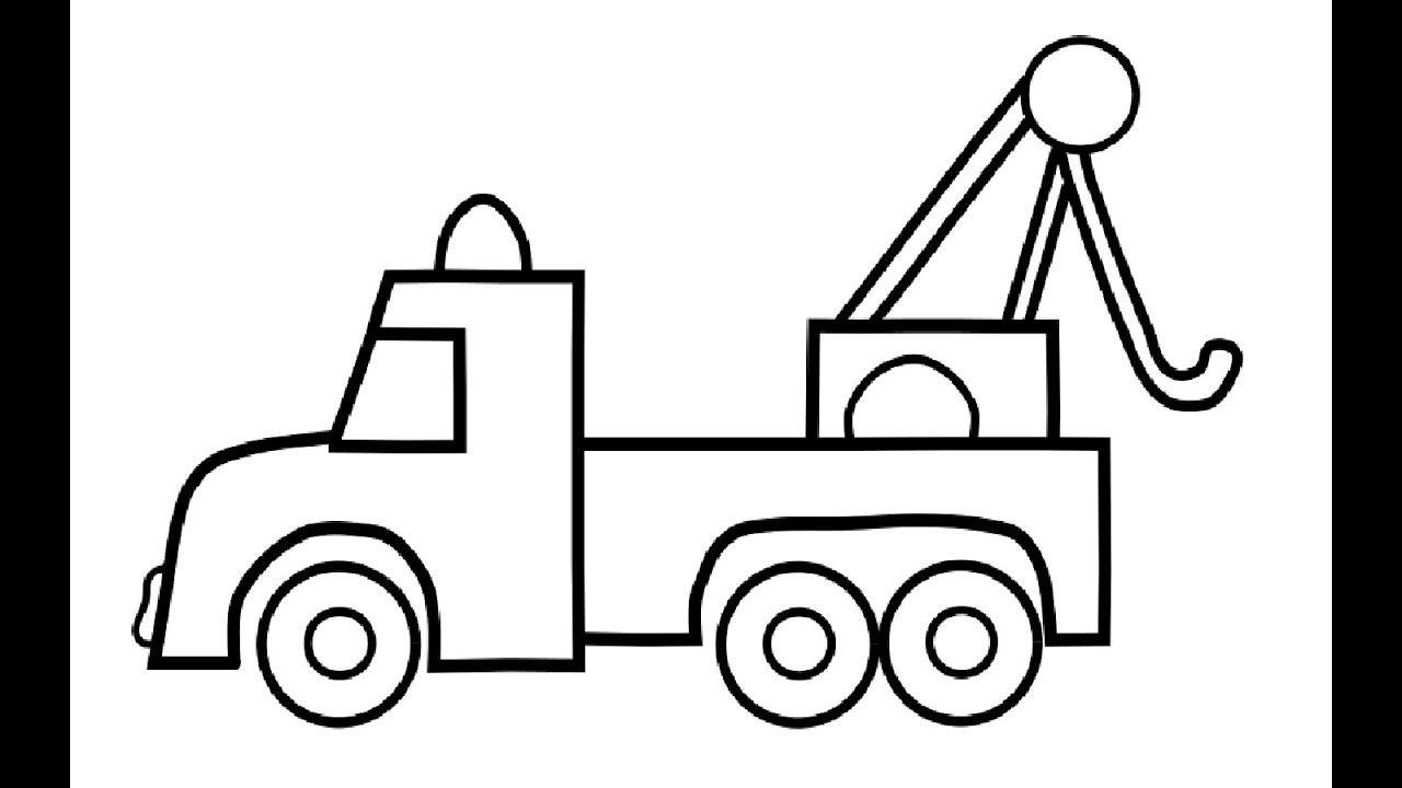 AUTO LKW Malvorlagen für Kinder - Auto Zeichnen und Ausmalen - Wie