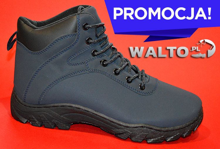 Trapery Buty Meskie Zimowe H L Granatowe Hiking Boots Shoes Boots