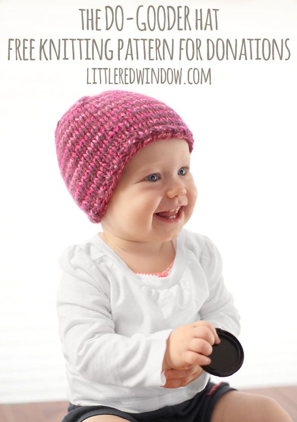 The Do-Gooder Quick Knit Hat Free Knitting Pattern for Charity ...