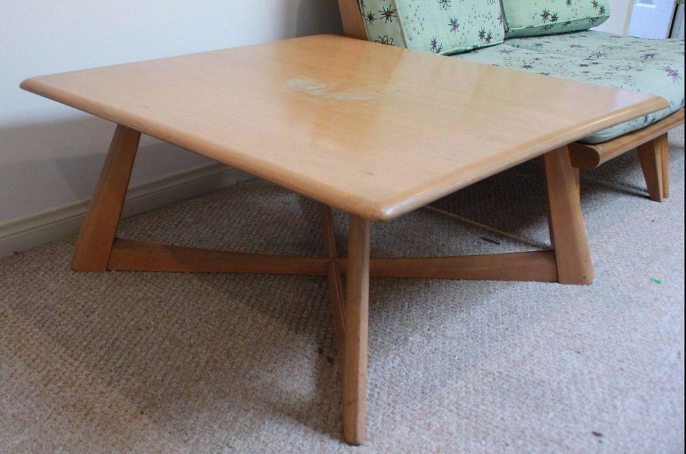 Mid Century Modern HEYWOOD WAKEFIELD Coffee Table xbase Square
